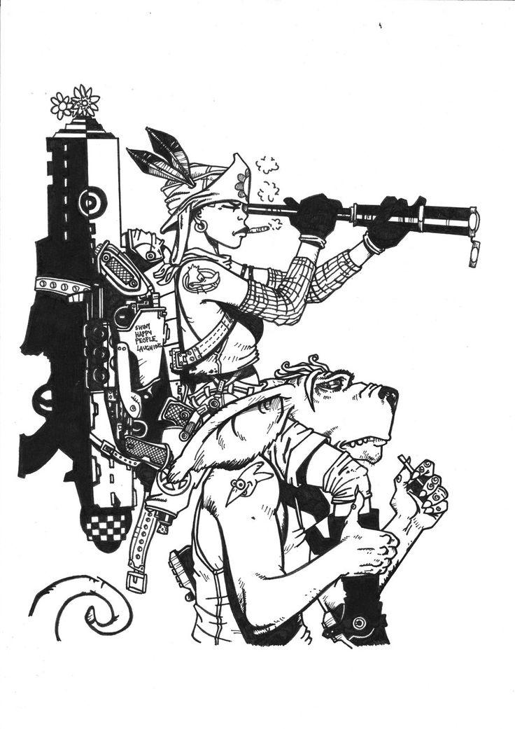 Pin by Heather Murillo on SVG Tank girl, Epic art, Geek art