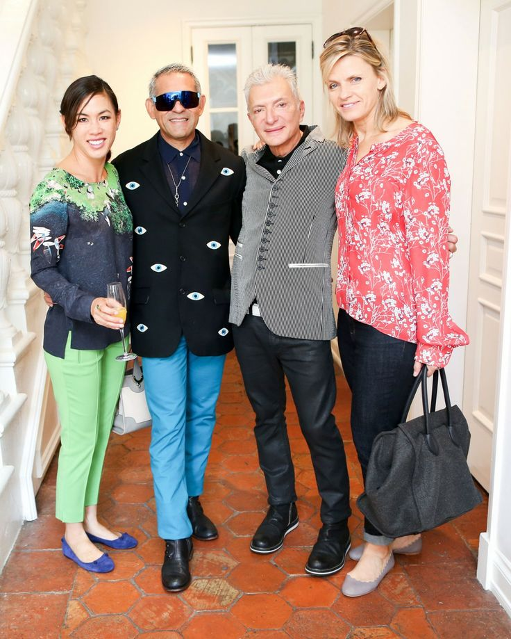 Basel Brunch - Ashley Kline, Francisco George, William Escalera, and Viveca Paulin Ferrell. Photo by BFAnyc.com.