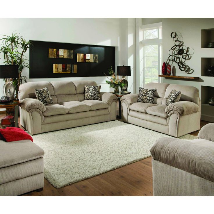 FurnitureMaxx Harper Cococa Cream Brown Microfiber Pillowtop Sofa Sofas