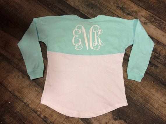Monogram Spirit Jersey over sized sweatshirts by CloverDepot