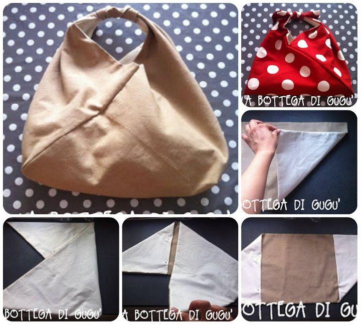 Come fare una borsa origami � Spiegazioni in italiano.