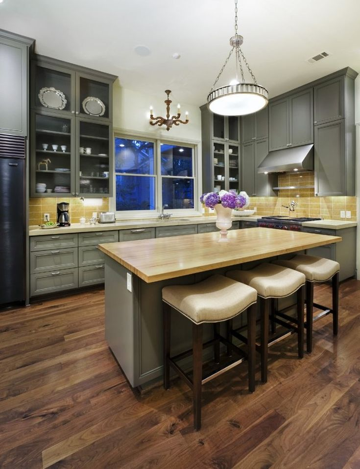 Concrete Countertops And Gray Cabinets Maybe Change To