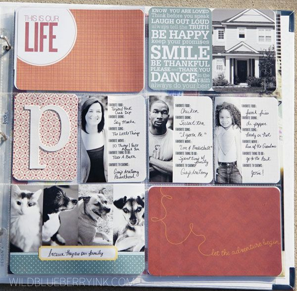 2013 title page by ShirleyPolk (creative team member) @wildblueberryink   like the photo cards with each person's current faves