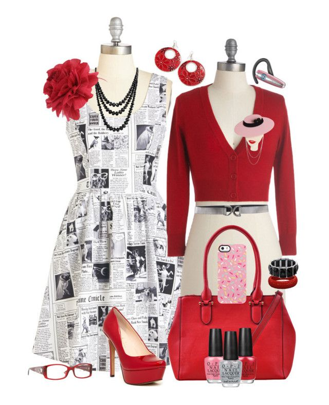 Black & White and Red All Over by leighanned on Polyvore | Inspired by Penelope Garcia #CriminalMinds