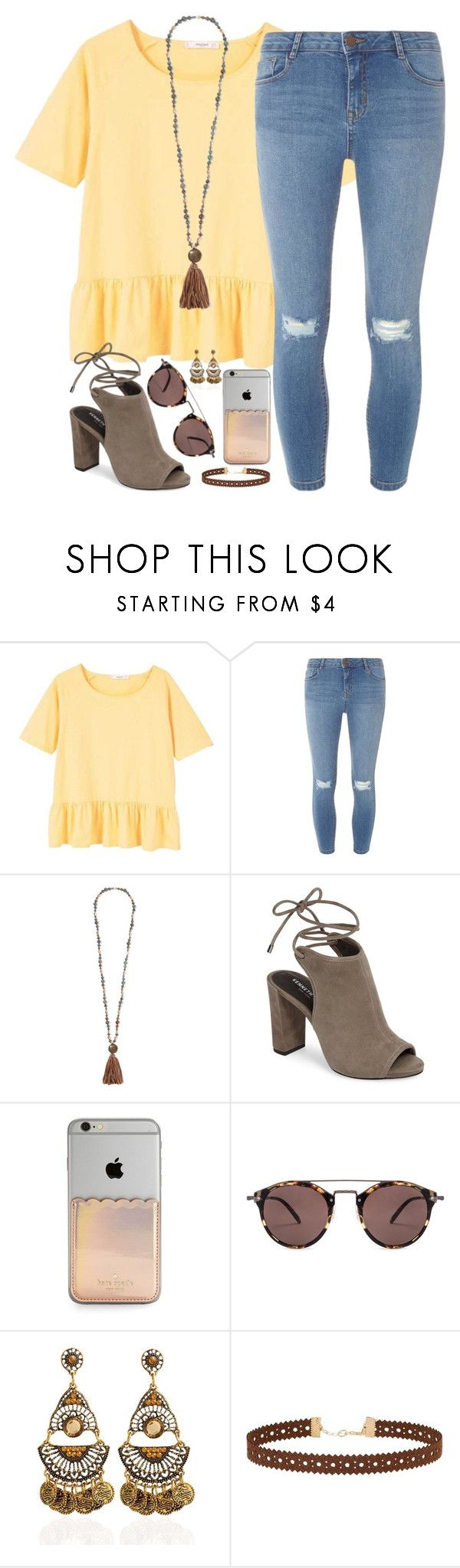 """""""sing us a song, you're the piano man"""" by kaley-ii ❤ liked on Polyvore featuring MANGO, Dorothy Perkins, Chan Luu, Kenneth Cole, Kate Spade, Oliver Peoples and Miss Selfridge"""