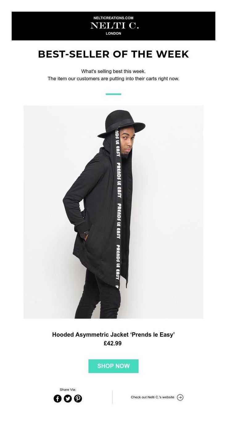Best-seller of the week! What's selling best this week. The item our customers are putting into their carts right now. Hooded Asymmetrical Jacket 'Prends le Easy'