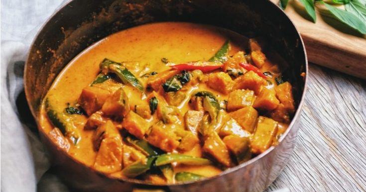 Un bon curry au butternut et au lait de coco, épicé et bienfaisant !