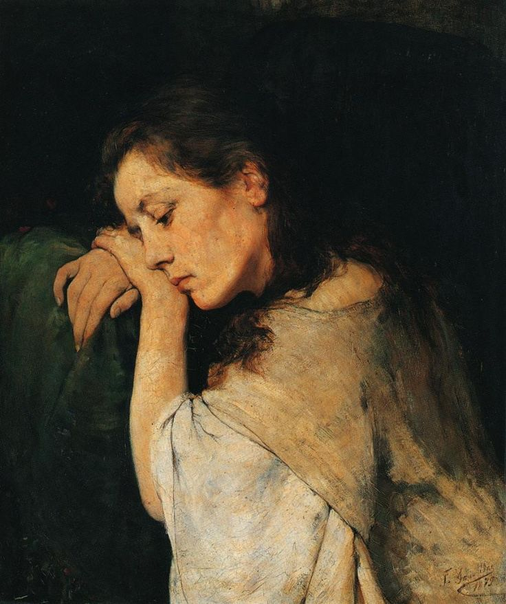 "silenceformysoul: "" Georgios Iakovidis (1853-1932) - Una mujer triste """