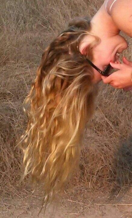 Naturally sun bleached hair!