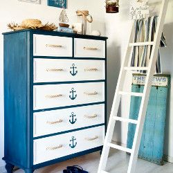 How to transform chest of drawers. our. Your Home - Craft - Nautical chest of drawers