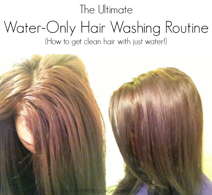 tips for water-only hair washing. I basically do this already (just kind of stopped using shampoo months ago, never washed it that often to begin with), but I need to up my pre-shower game with these extra steps. one thing this article doesn't say that I HIGHLY RECOMMEND is to COMB YOUR HAIR IN THE SHOWER (if it's curly like mine)