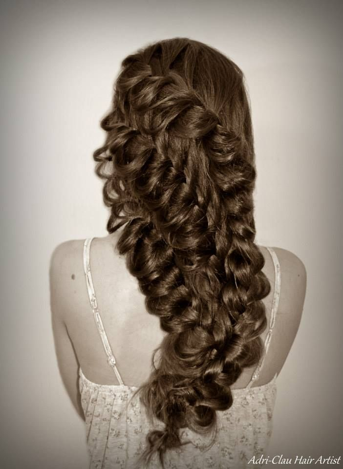 Exquisite #braid design by Adri Clau of Romania. #hotonbeauty www.hotonbeauty.com