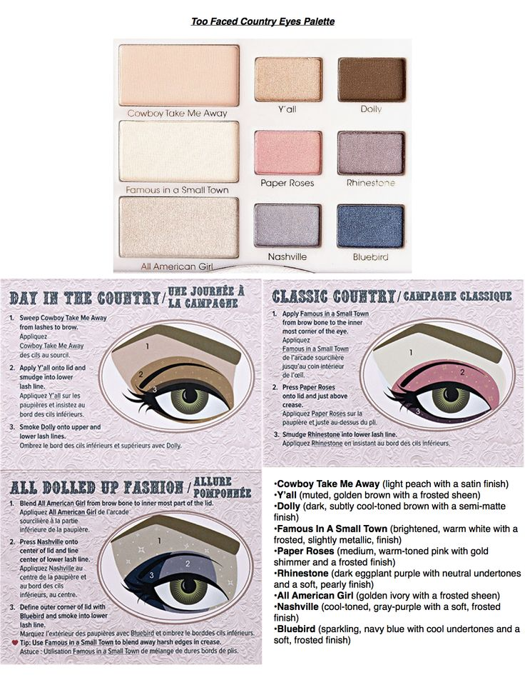 Too Faced Country Eyes Palette