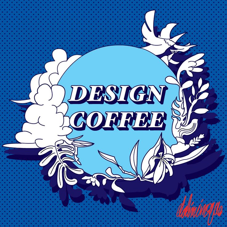 some logo design for my cousin. his new coffee shop. yeah retro is the thing we talk the same. i like it more than the color he required me haha. yo quiero azul. mi corasol es azul. my blue blue heart.