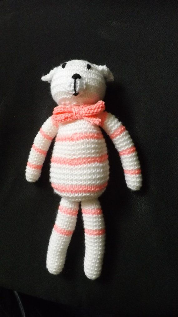 hand knitted character soft toy by craftyknits666 on Etsy, £6.00