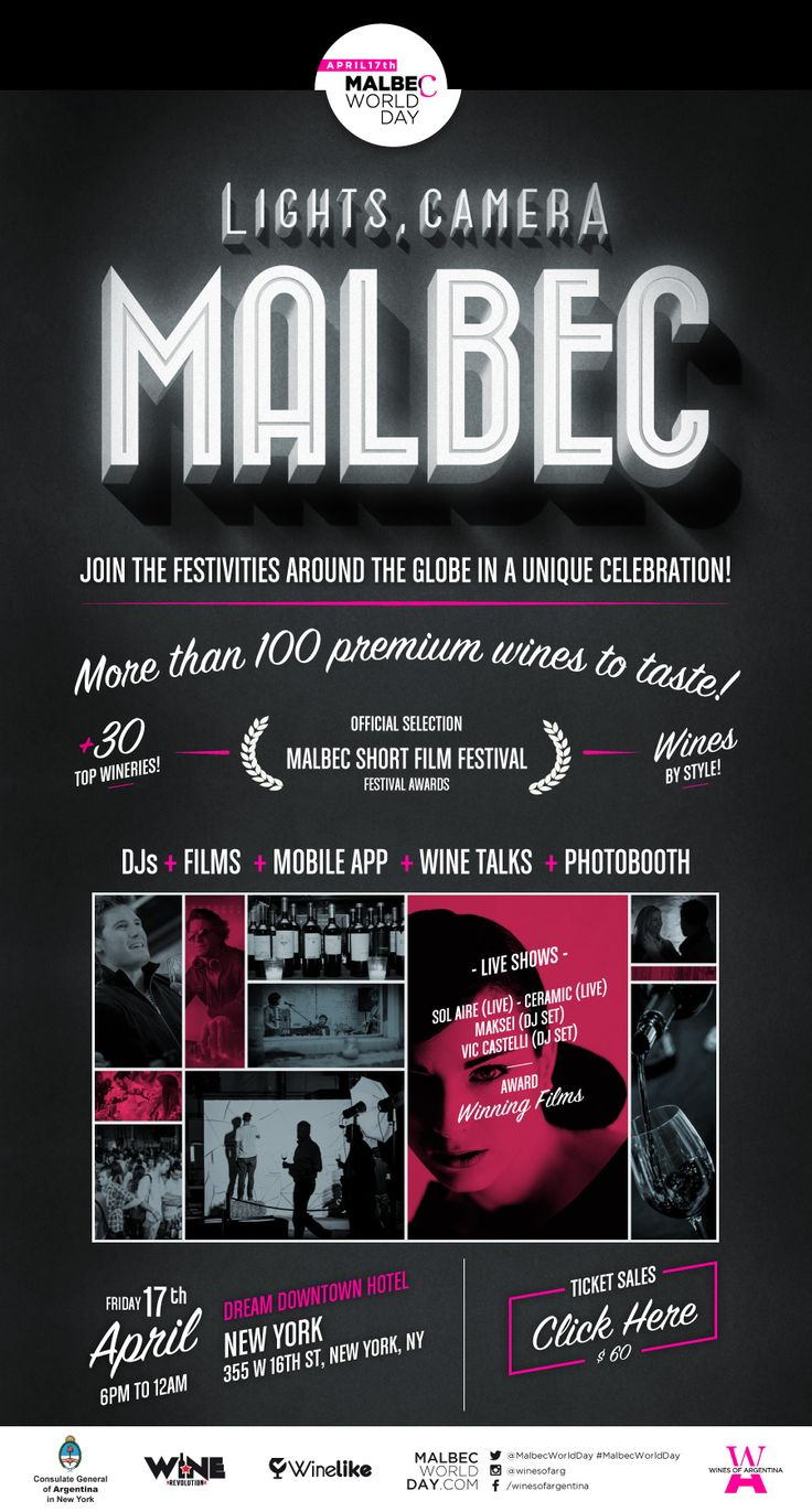 #MalbecWorldDay #NYC on April 17th! Read more by clicking the image