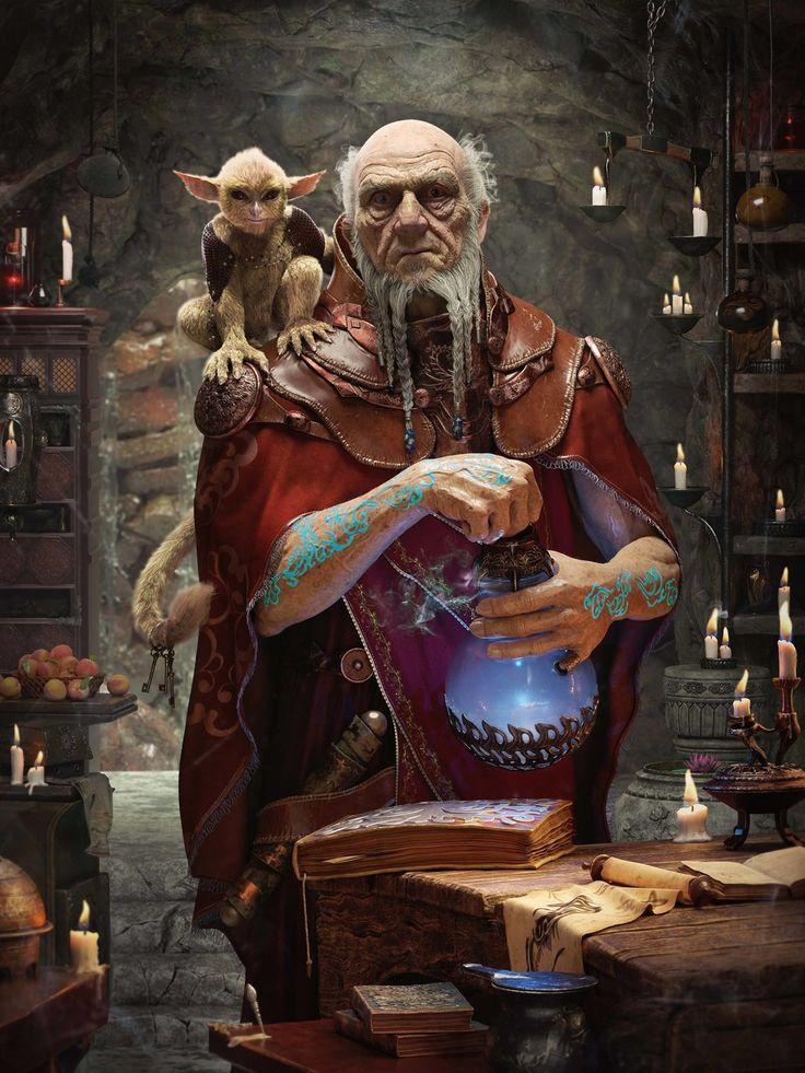 Magician by ruihengliu | Matte Painting | 3D | CGSociety