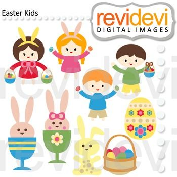 Easter Kids Clip Art features cute kids with eggs. Cute clipart for Easter egg hunt theme projects. Boy and girl holding eggs.  A good graphic resource for teacher seller.  You might also like Link-Easter Eggs Clip art / Set of 12, pastel colors and Link-Digital scrapbook papers - Happy Easter A  These digital clip arts are great for teachers and educators for creating their school and classroom projects such as for holiday bulletin board, printable, worksheet, classroom decor, craft ...