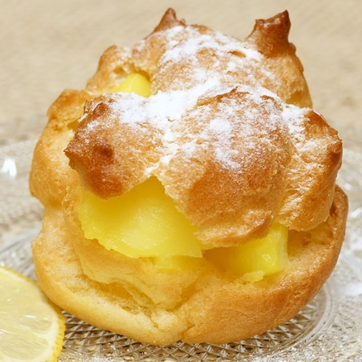 This lemon cream puff recipe makes light fluffy puffs and a tangy lemon filling.