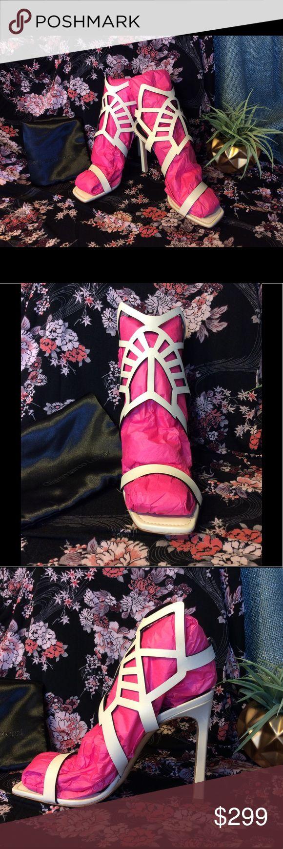 NWOB Gianmarco Lorenzi Cream Gladiator Heels Sz 10 New without Box. Never been worn Gianmarco Lorenzi Cream Gladiator Heels. Women's Size 10. Made in Italy. Dust Bag included. Gianmarco Lorenzi Shoes Heels