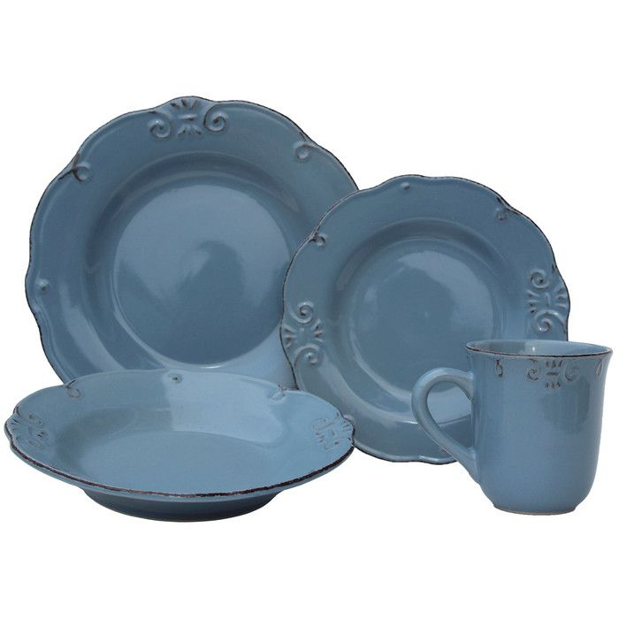 You'll love the 32 Piece Antique Edge Stoneware Dinnerware Set at Wayfair - Great Deals on all Kitchen & Dining  products with Free Shipping on most stuff, even the big stuff.
