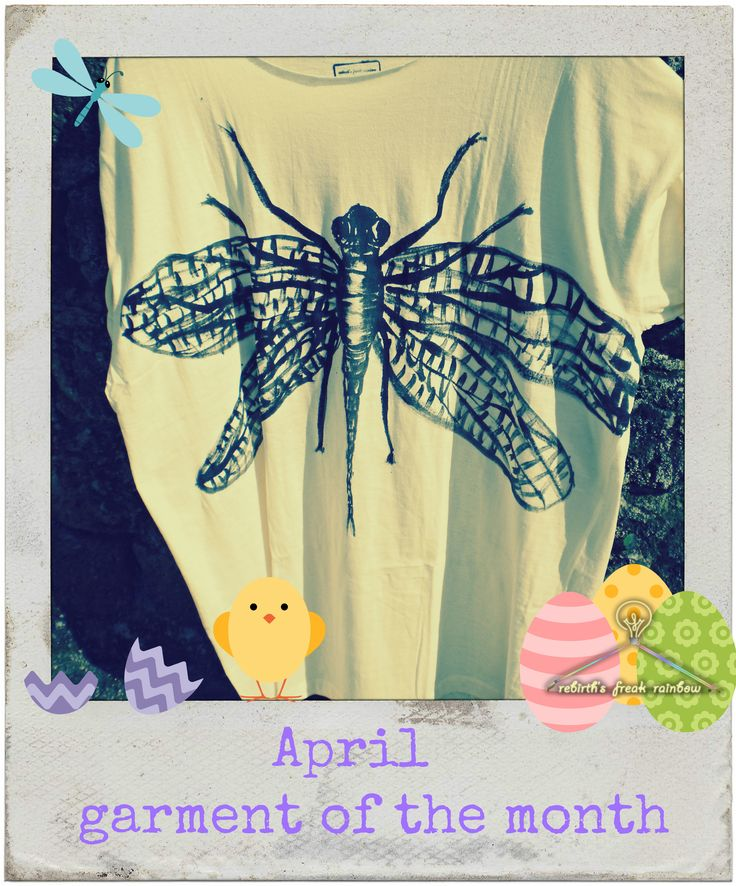 April - garment of the month       We celebrate with t-shirt dragonfly