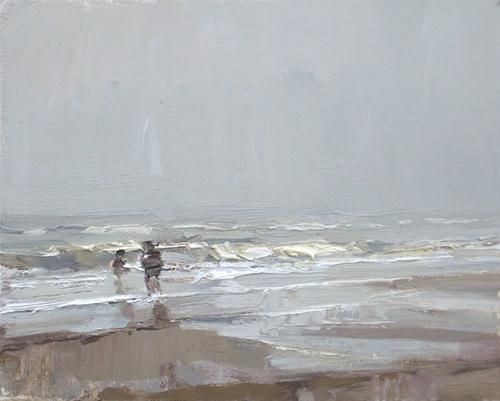 """Seascape winter #26"" Original Fine Art for Sale - © Roos Schuring"