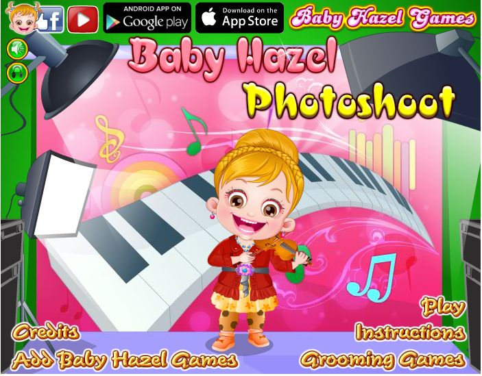 Help Baby Hazel to get ready for photoshoot and give fabulous poses for camera http://www.babyhazelgames.com/games/baby-hazel-photoshoot.html