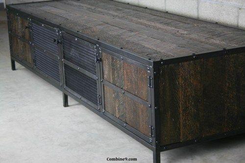 Media Console/Credenza. Vintage Industrial/Mid Century Design. Rustic | Combine9 - Furniture on ArtFire