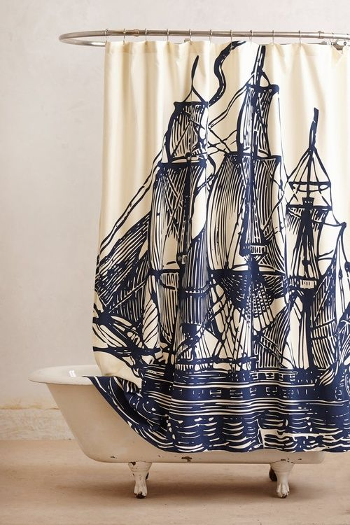 WANDERLUSTFUL guest bathroom with probably have a nautical theme.