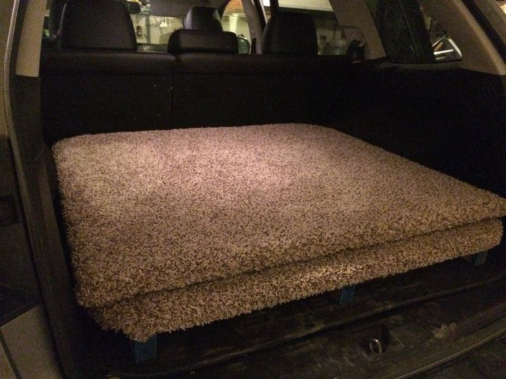 Direction for building a sleeping platform for a 2011 Subaru Outback
