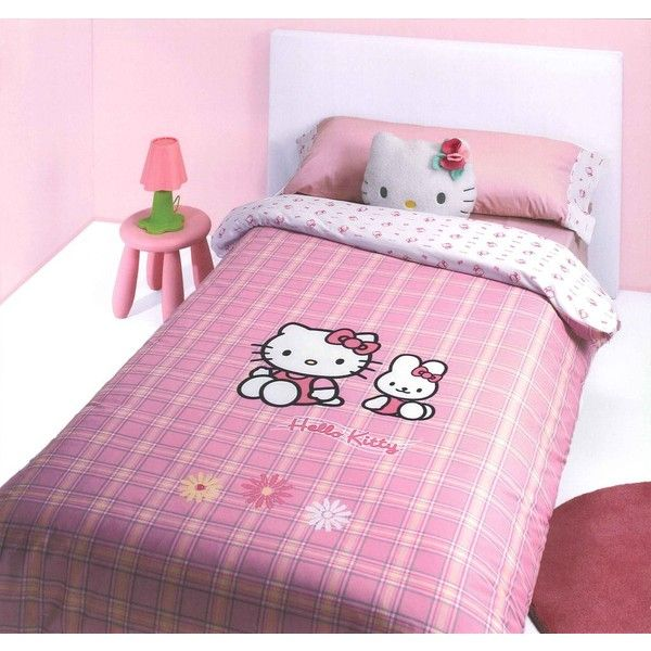 Hello kitty parure letto ❤ liked on Polyvore featuring hello kitty and backgrounds