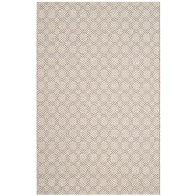 Laurel Foundry Modern Farmhouse Cheneville Cotton Hand-Woven Silver/Ivory Area Rug Rug Size: 4' x 6'