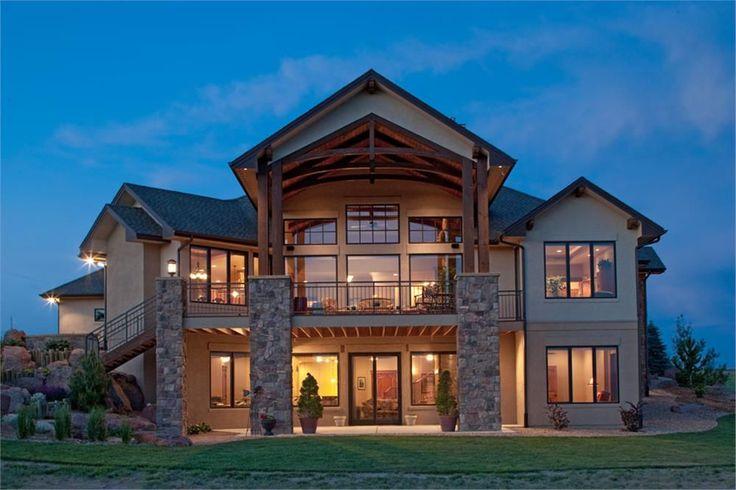 161-1049: 161-1049 house plan rear photo
