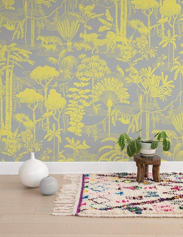Get Lost In This Nocturnal Fantasy Jungle Scape! Flora And Fauna Combine To  Create The Ultimate Dreamy Pattern. Material: Screen Printed By Hand On ... Part 42