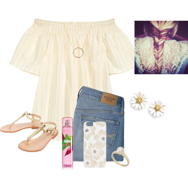 A fashion look from May 2016 featuring H&M blouses, Abercrombie & Fitch jeans and Cocobelle sandals. Browse and shop related looks.