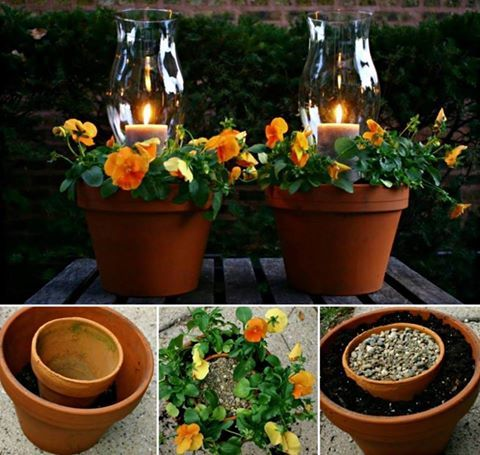 We're in love with these Terracotta Pot Candle Planters and they couldn't be easier to make.  Click the link for the Tutorial and check out the Terracotta Pot Chandelier Planter too http://snip.ly/Fmtv