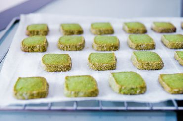 Matcha Shortbread Cookies. I actually made these following the recipe! Didn't have almond meal, but I ground almonds using a coffee grinder. I'm always looking for different ways to get my matcha fix.