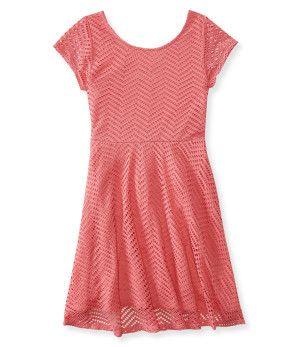 Kids' Perforated Skater Dress -