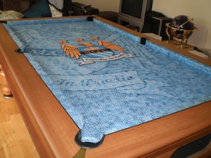 another manchester city pool cloth custom made by iq