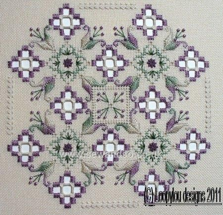 Buy+Purple+Delight+Hardanger+Chart+Pack+Online+at+www.sewandso.co.uk