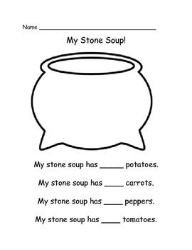 """Here is my best selling Stone Soup Unit!   Included you will find:** Stone Soup Emergent Reader"""" Students will read """"I Can Share"""" statements on each page and provide the number of each given vegetable."""