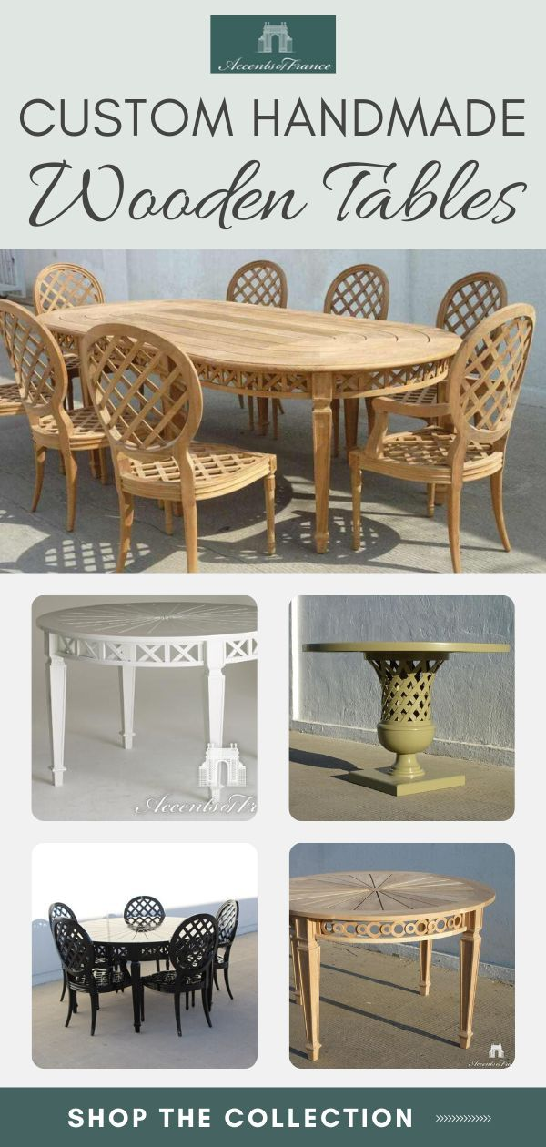 Add A Touch Of French Elegance To Your Dining Or Outdoor Space