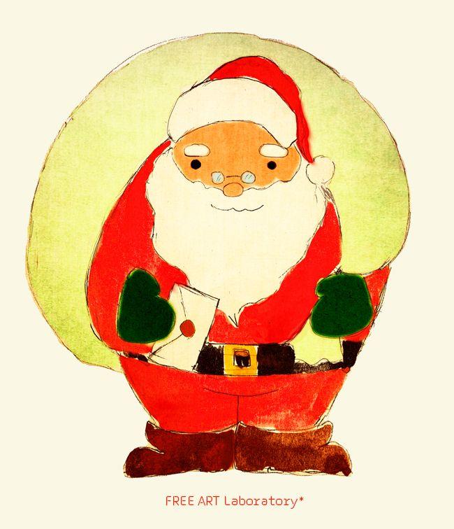 大きなプレゼントを担いだサンタイラスト サンタクロース イラスト サンタクロース クリスマス イラスト