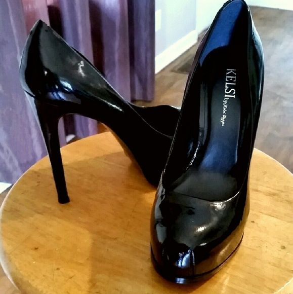 **FLASH SALE** *KELSI DAGGER* BLACK PLATFORM HEELS Black (True Patent Leather) Heels. Gorgeous! Like new as I only wore them once (I did put slip resistant stick on) on bottoms. Bought from Nordstrom Kelsi Dagger Shoes Platforms