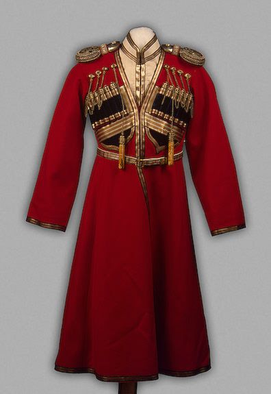 Cossack Officer's Uniform worn by Tsrevich Alexei Nickolayevich, circa 1914.