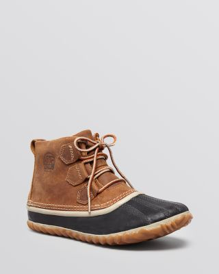 Sorel Out N About Lace Up Waterproof Duck Booties | Bloomingdale's