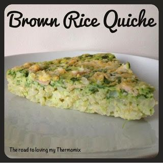 The road to loving my Thermomix: Brown Rice Quiche