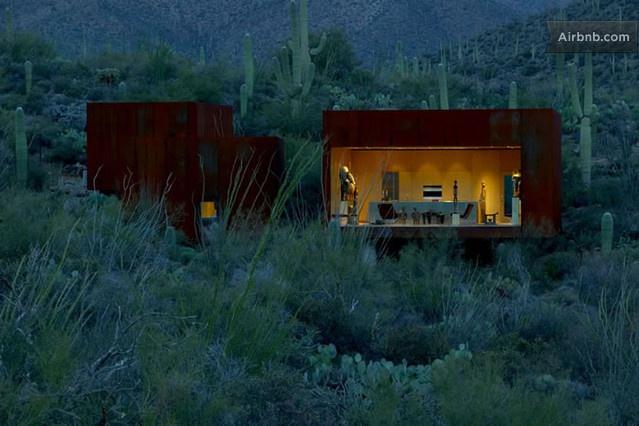 Desert Nomad house near Tucson, AZ. Available for rent on