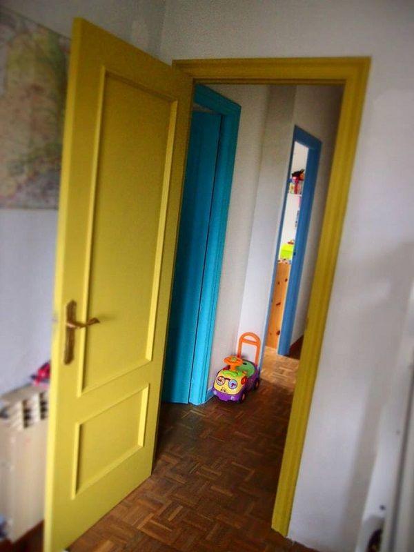 Puertas de la casa de una clienta pintadas con Autentico chalk paint. #chalkpaint http://pinturachalkpaint.com/vintage-chalk-paint/